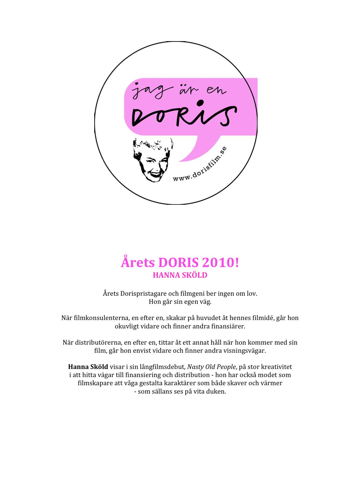 Diplom Dorispris 2010 Hanna Sköld-2