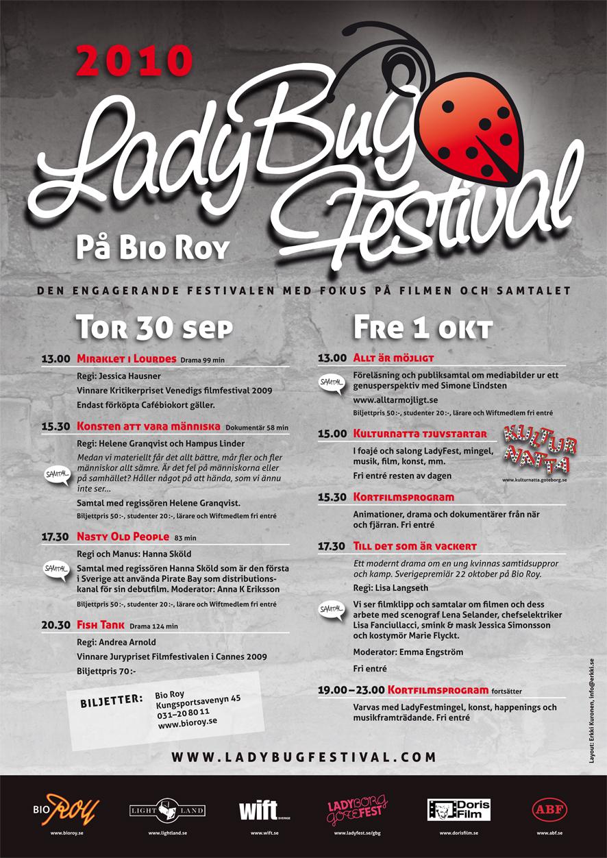 Välkomna till LadyBugFestival 2010 to 30 sept och fr 1 okt kl.12.00-23.00